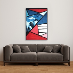 Framed 24 x 36 - Diagonal unity