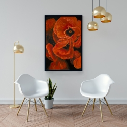 Framed 24 x 36 - Poppy bouquet