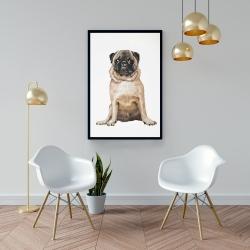 Framed 24 x 36 - Pug