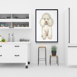 Framed 24 x 36 - French poodle