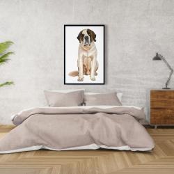 Framed 24 x 36 - Saint bernard