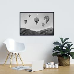 Framed 24 x 36 - Air balloon landscape