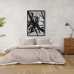 Framed 24 x 36 - Circular strokes