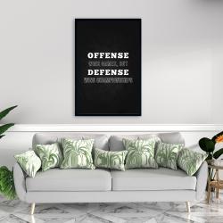 Framed 24 x 36 - Offense wins games...