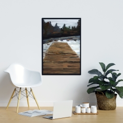 Framed 24 x 36 - Dock and lake