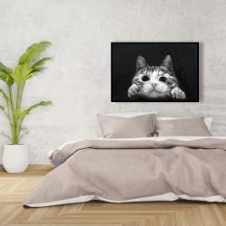 Framed 24 x 36 - Curious cat