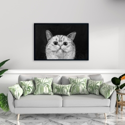 Framed 24 x 36 - Watching cat