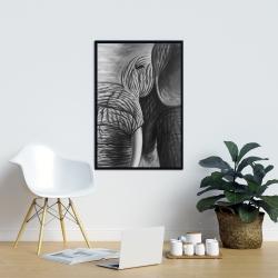 Framed 24 x 36 - Elephant