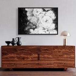 Framed 24 x 36 - Monochrome rose garden