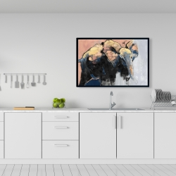 Framed 24 x 36 - Abstract elephant