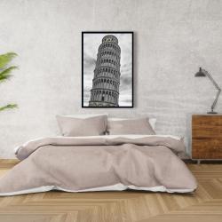 Framed 24 x 36 - Tower of pisa in italy