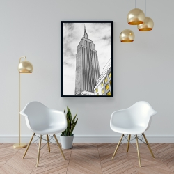 Framed 24 x 36 - Outline of empire state building