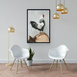 Framed 24 x 36 - Wyandotte rooster