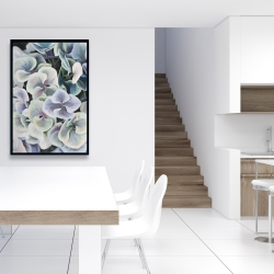 Framed 24 x 36 - Colorful hydrangea flowers