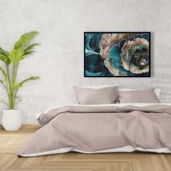 Framed 24 x 36 - Blue flower montage