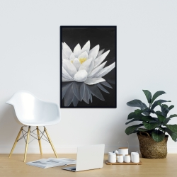 Framed 24 x 36 - Lotus flower with reflection