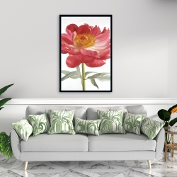Framed 24 x 36 - Pink peony
