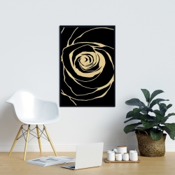 Framed 24 x 36 - Black rose