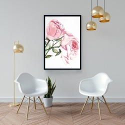Framed 24 x 36 - Watercolor pink roses