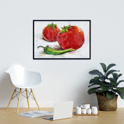 Framed 24 x 36 - Tomatoes with jalapeño