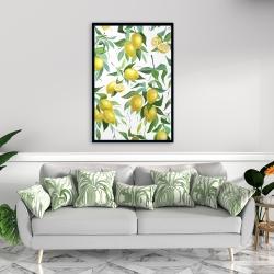 Framed 24 x 36 - Lemon pattern