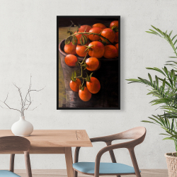 Framed 24 x 36 - Bucket of cherry tomatoes