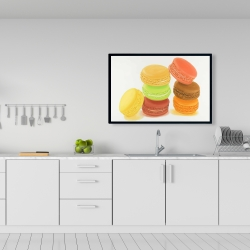 Framed 24 x 36 - Delicious macaroons