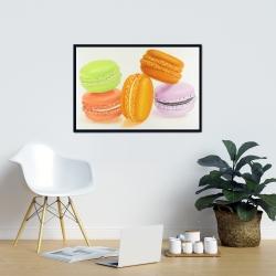 Framed 24 x 36 - Small bites of macaroons