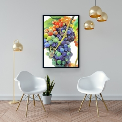 Framed 24 x 36 - Colorful bunch of grapes