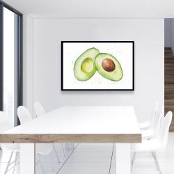 Framed 24 x 36 - Watercolor open avocado