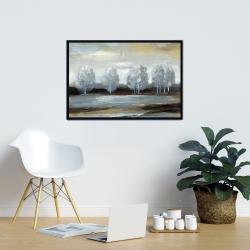 Framed 24 x 36 - Grey landscape