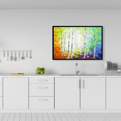 Framed 24 x 36 - Colorful forest