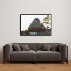 Framed 24 x 36 - Le château de frontenac in autumn