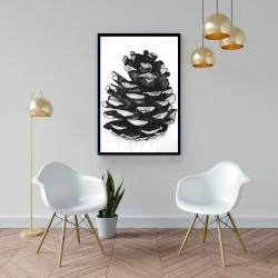 Framed 24 x 36 - Pine cone