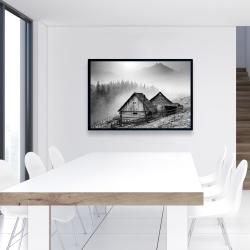 Framed 24 x 36 - Mountain carpathian village
