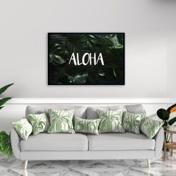 Framed 24 x 36 - Tropical aloha
