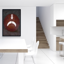 Framed 24 x 36 - Football ball