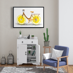 Framed 24 x 36 - Lemon wheel bike