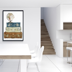 Framed 24 x 36 - Go around the world