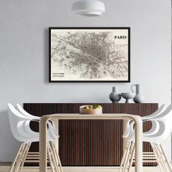 Framed 24 x 36 - Paris