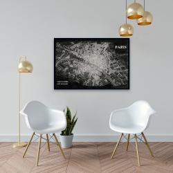 Framed 24 x 36 - Airplane satellite view