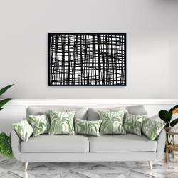 Framed 24 x 36 - Abstract small stripes