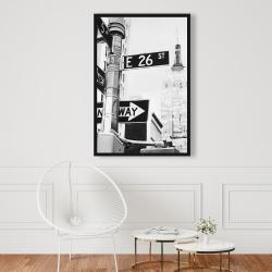 Framed 24 x 36 - New york city street signs