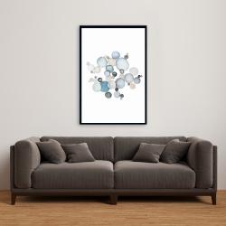 Framed 24 x 36 - Round pebbles