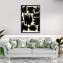 Framed 24 x 36 - Deconstructed stripes