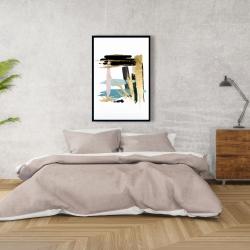 Framed 24 x 36 - Pastel stroke