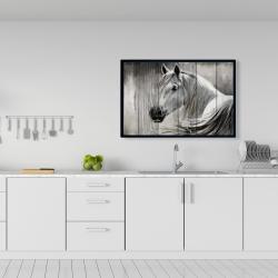 Framed 24 x 36 - Rustic horse