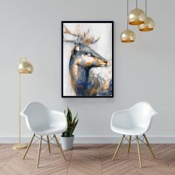 Framed 24 x 36 - Golden deer