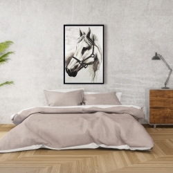 Framed 24 x 36 - Flicka the white horse