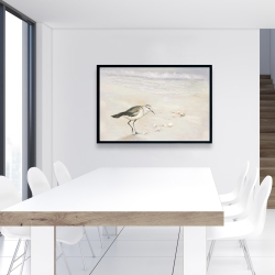 Framed 24 x 36 - Semipalmated sandpiper on the beach
